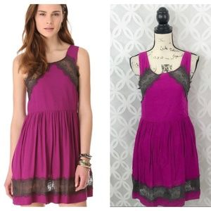 Free People Plum Georgia Dress NWT
